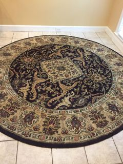 8 foot round rug with rug pad