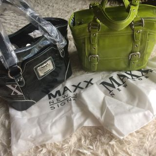 Maxx New York patent leather handbags