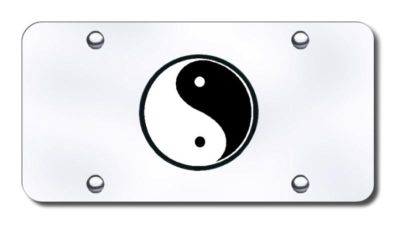 Purchase Yin-Yang Logo Chrome on Chrome License Plate Made in USA Genuine motorcycle in San Tan Valley, Arizona, US, for US $31.62