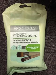 Eco-tools of make up brush cleansing cloths