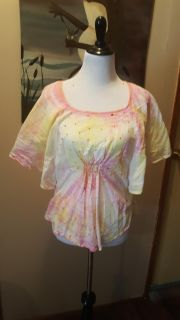 Cotton tie dyed blouse