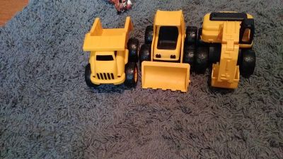 Hard plastic cat trucks. Movable pieces