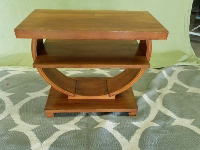 Vintage mid-century wood table curved very unique