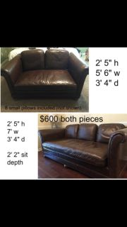 Awesome deal! Great looking comfortable leather couches.