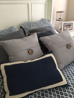 Assorted throw pillows $5.00 each very nice quality