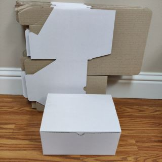 90 pc white cardboard gift box shipping storage corrugated bulk case wholesale