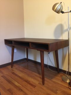 Minimalist Modern Desk in Teak