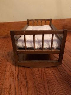 Vintage Doll Cradle with mattress