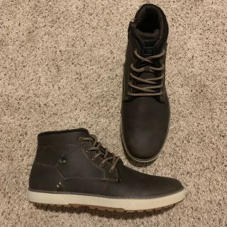 Men s Faux Leather Casual Boots
