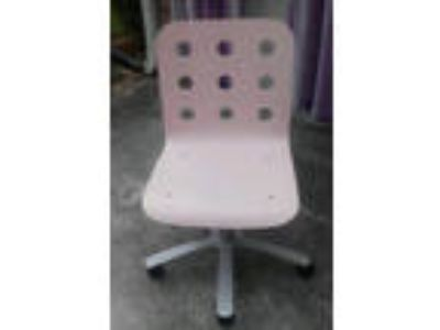 Pink IKEA adjustable swivel chair computer/desk/office LOCAL