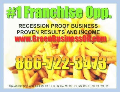 $59,000, Exploding Franchise Business  Recycling Waste Oil For Biodiesel
