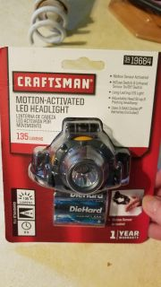 Craftsman motion activated LED headlight
