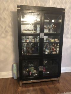 Hooker Furniture Glass Cabinet with Lights