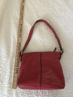 Red purse lightly used/genuine leather