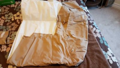 Double bed skirt