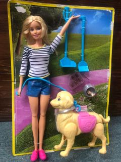 Barbie and her poopin pup 7.00