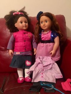 Our Generation Dolls with outfits