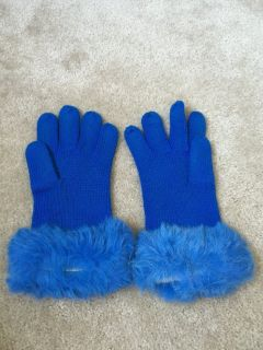 Rabbit Fur Gloves One Sz