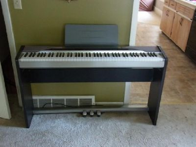 $250 CASIO Privia PX-110 88-key Digital Piano w/ Stand & Triple Pedals