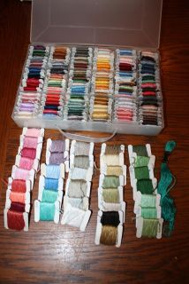 Large lot of DMC Embroidery Floss Thread in Box Variety of Colors