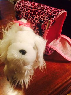 Stuffed Dog With Carrier