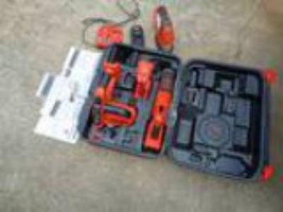 BandD Fire Storm v. cordless tool set with New Battery (Riverd