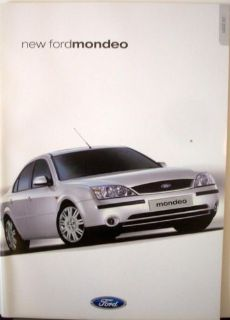 Purchase 2001 Ford Mondeo UK England Sales Brochure Right Hand Drive motorcycle in Holts Summit, Missouri, United States, for US $19.11