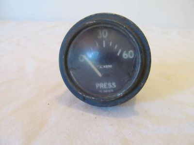 Sell Vintage Curved Glass Oil Pressure Press Gauge AC 1597975 795-4230 EL motorcycle in Longview, Washington, United States, for US $49.99