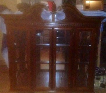 $150, Solid Cherry Wood China Cabinet