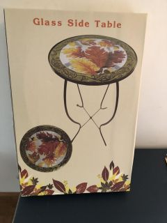 New Fall Decor side table