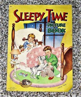 Vintage 1946 Sleepy Time Picture Book by Cathryn Taylor - 13 X 9