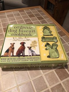 Dog Biscuit cookbook with cutters