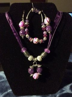 Crafted Hand Made Jewelry.Purple