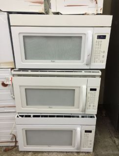 "Whirlpool 30"" Over the Range Microwave in White"