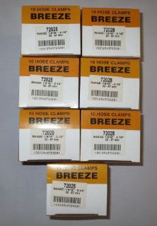 """Sell Lot Of 70 Breeze Size 28 Hose Clamps 1-5/16"""" To 2-1/4"""" 33-57mm 7 Boxes 72028 motorcycle in Holly, Michigan, United States, for US $39.99"""