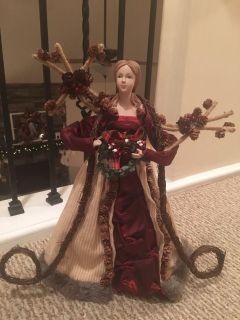 Beautiful rustic Angel tree topper or table top