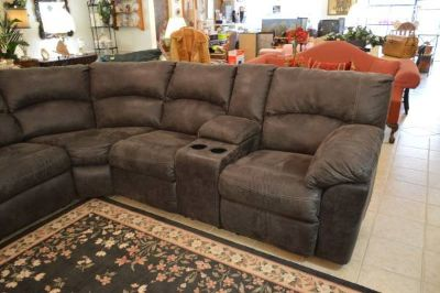New Charcoal Gray Sectional with two Recliner at Each End