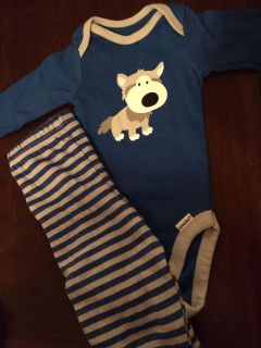 0-3m gerber outfit