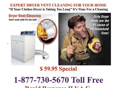 Affordable Dryer Vent DUCT Cleaning & Fireplace Inspections