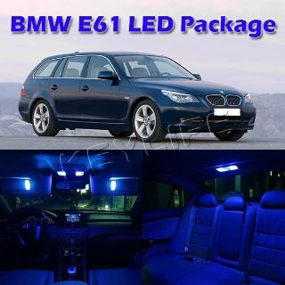 Sell 15x Blue Error Free LED Interior Lights Package for 2004-2010 BMW E61 Touring motorcycle in Cupertino, CA, US, for US $36.99