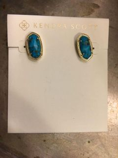 New worn once for pics price firm Kendra Scott earrings no bag