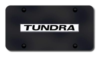 Purchase Toyota Tundra Name Chrome on Black License Plate Made in USA Genuine motorcycle in San Tan Valley, Arizona, US, for US $36.43
