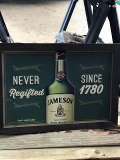 Jameson picture metal with wood frame!