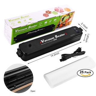 Automatic Home Vacuum Air Sealing System for Food Preservation/Starter Kit with 25 Sealer Bags