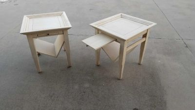 2 heavy end tables