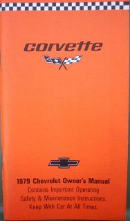 Sell 1979 Chevrolet Corvette NOS Owners Manual ORIGINAL motorcycle in Holts Summit, Missouri, United States, for US $39.79