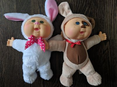 Cabbage Patch bunny and puppy