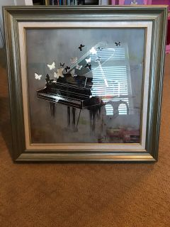 Piano with Butterflies Photo