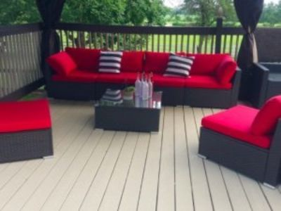 Outdoor Patio Furniture Wicker Sectional Sofa Set 7pc
