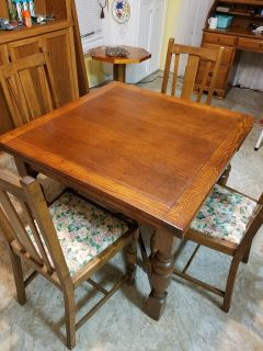Solid Wood Antique Table and Chairs